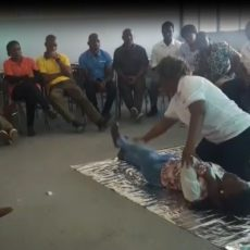 First Aid Training for teachers, Inhambane Province, Mozambique